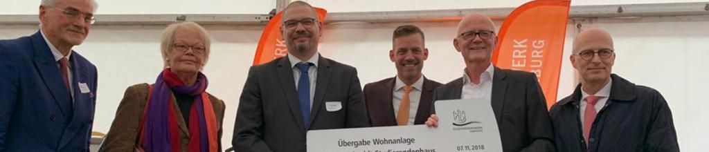 Studentenwerk Hamburg: Einweihung – Symbolische Schlüsselübergabe